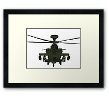 AH-64D Apache Helicopter shirt Framed Print