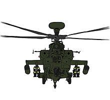 AH-64D Apache Helicopter shirt Photographic Print