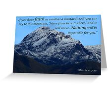 Mount Cotacachi in the Andes Greeting Card