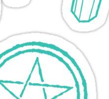 witchy pattern Sticker