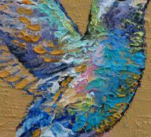 Turquoise Hummingbird Sticker