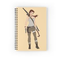 lara croft - belle Spiral Notebook