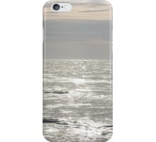 Beach sunset in Black and White iPhone Case/Skin