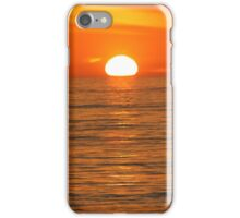 Sunset in orange iPhone Case/Skin