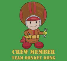 Team Donkey Kong crew member Kids Tee