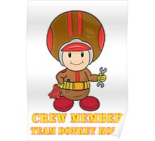 Team Donkey Kong crew member Poster