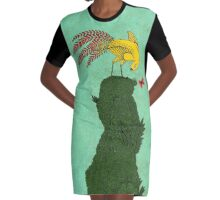 Mythical bird on Mountain top Graphic T-Shirt Dress
