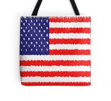 American Flag with texture Tote Bag