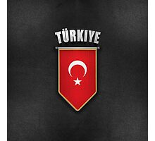 Turkey Pennant with high quality leather look Photographic Print
