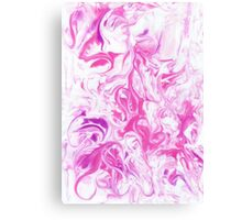 Marble pink background Canvas Print