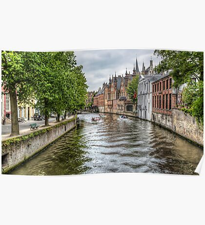 The Groenerei Canal in Bruges (Belgium) Poster