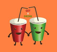 Get a drink (Pillows & Totes Edition) by agustindesigner