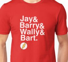 """""""Jay and Barry and Wally and Bart"""" Flash T-shirt and more Unisex T-Shirt"""
