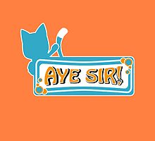 Happy sais Aye Sir! (Pillows & Totes Edition) by agustindesigner