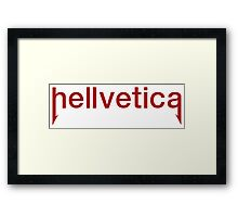 Hellvetica Neue - Red Framed Print
