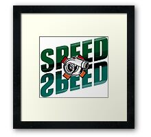 Speed x Speed Framed Print