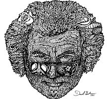Jerry Face / Jerry Garcia portrairt by David Sanders