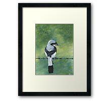 Shrike on a Wire Framed Print