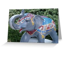 Elephant Statue Standing Guard Greeting Card