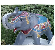 Elephant Statue Standing Guard Poster