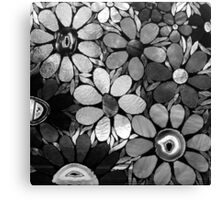 Black & White Mosaic Garden Canvas Print