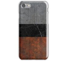 Concrete, Marble and Rusted Iron Abstract iPhone Case/Skin