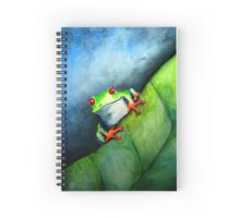 Tree Frog Watercolor Spiral Notebook
