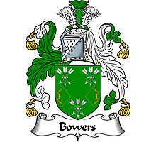Bowers Coat of Arms / Bowers Family Crest Photographic Print