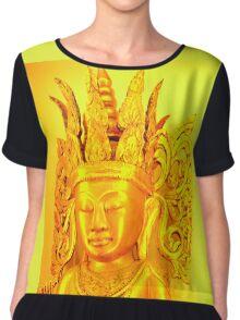 gold buddha head Chiffon Top