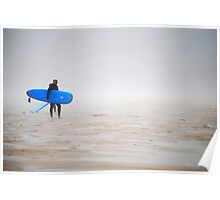 Surfer at Misty Watergate Poster