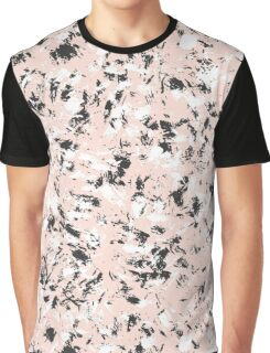 Ink marble pattern. Pink, black and white Graphic T-Shirt