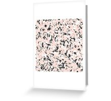 Ink marble pattern. Pink, black and white Greeting Card