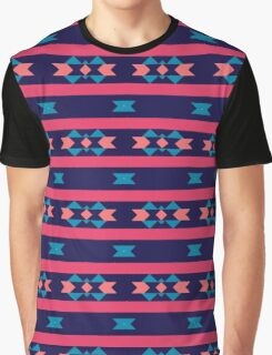 Stripes and other shapes pattern Graphic T-Shirt