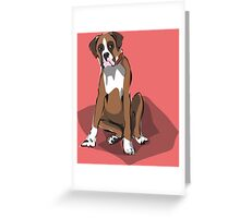 illustration of a BOXER Greeting Card