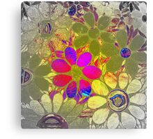 Psychedelic Garden of Flowers - Mosaics Canvas Print