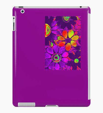 70s Psychedelic Purple Garden - Mosaic iPad Case/Skin