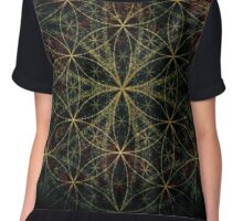 SACRED FLOWER OF LIFE Chiffon Top