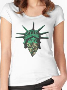 Statue of Liberty Bandana Women's Fitted Scoop T-Shirt