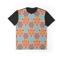 Stars and honeycombs pattern Graphic T-Shirt