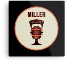 SF Giants HOF Announcer Jon Miller Pin Metal Print