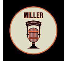 SF Giants HOF Announcer Jon Miller Pin Photographic Print