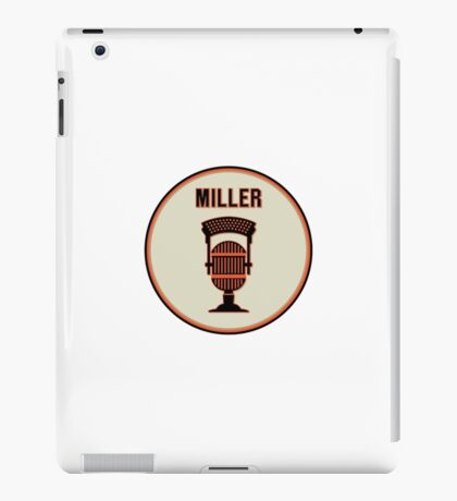 SF Giants HOF Announcer Jon Miller Pin iPad Case/Skin