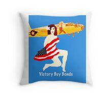 World War 2 Victory Throw Pillow