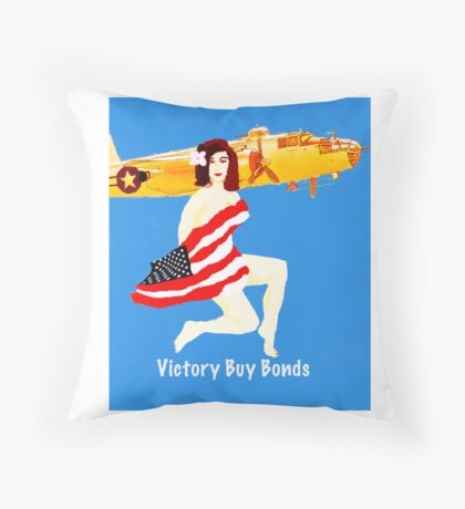 World War 2 Victory Throw Pillow