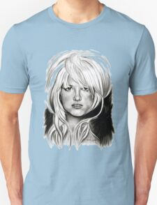 Brit in Black and White Unisex T-Shirt