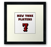 New York Players Framed Print