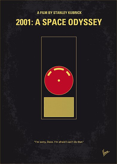 No003 My 2001 A space odyssey 2000 minimal movie poster by Chungkong