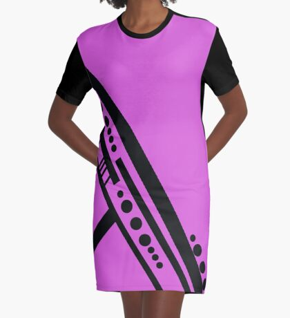 Dots and Dashes Graphic T-Shirt Dress