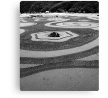Zen Sand Garden Canvas Print