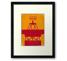 No081 My Star Trek - 1 minimal movie poster Framed Print